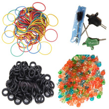 Tattoo Accessories Tattoo Supplies Rubber Bands Nipple Bands Machine Cleaning Brush Set For Begginner Tattoo Kits