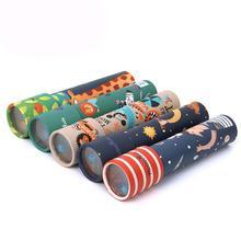 1 шт. Мультяшные животные 3D Калейдоскоп бумажная карта калейдоскоп красочные мировые игрушки интерактивные игрушки Детские подарки G0028
