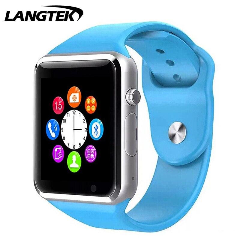 imágenes para Bluetooth Reloj Inteligente A1-Reloj Deportivo Para HAWEI Teléfono Android con Ayuda de La Cámara Tarjeta SIM TF Podómetro pk A1 GT08 DZ09