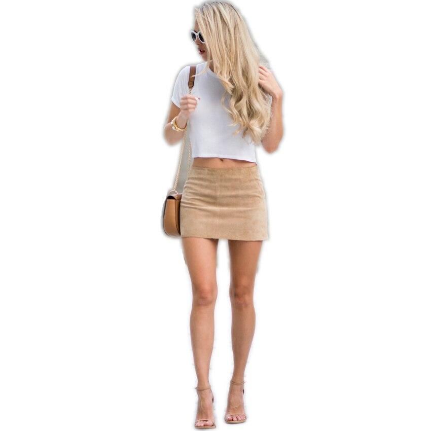 HTB19P2aQXXXXXasaFXXq6xXFXXXq - FREE SHIPPING Women Suede Mini Skirt JKP198