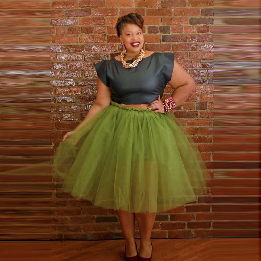 Plus Size Tutu Women Skirt Custom Made Elastic Waistline -3459
