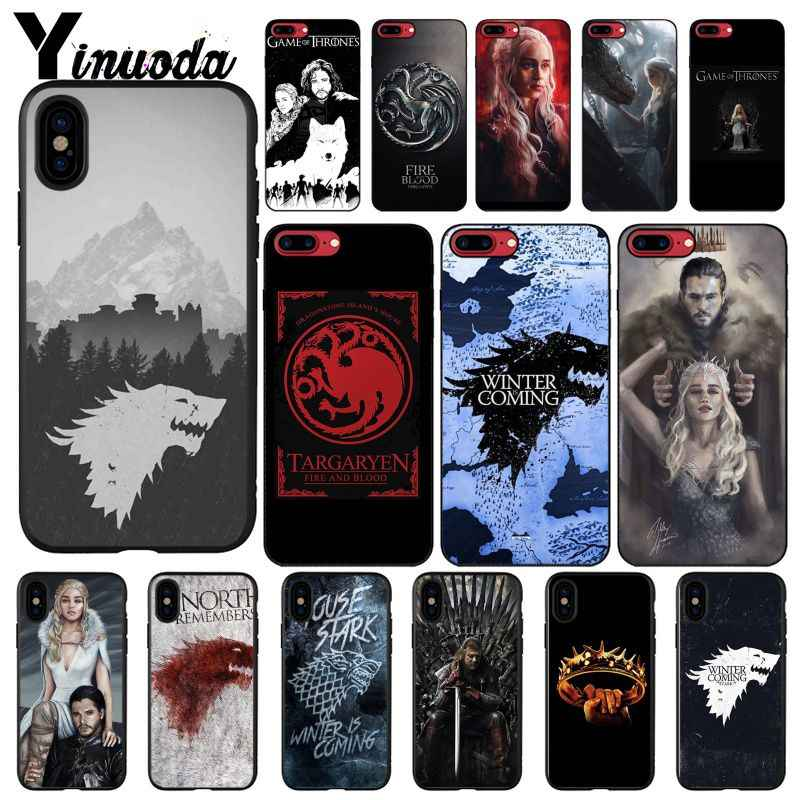 Yinuoda Game Thrones Daenerys Dragon Jon Snow tyrion lannister Phone Case for iPhone 8 7 6 6S Plus X XS MAX 5 5S SE XR 10 Cover