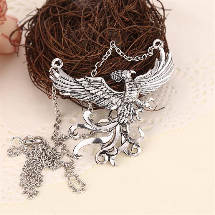 Superdeals phoenix fire bird necklace vintage antique silver phoenix fire bird necklace vintage antique silver firebird pendant jewelry for men and women wholesale 32355958021 aloadofball Gallery