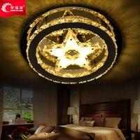 Happy sea LED crystal bedroom lamp modern art ceiling lighting lamp master study Restaurant