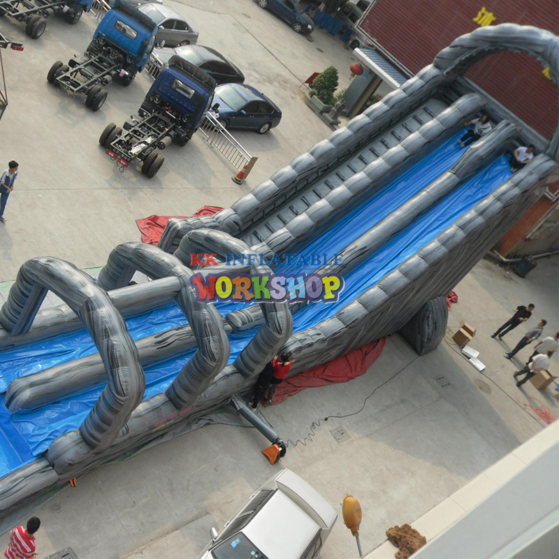 Multi-channel Long Air Large Inflatable Slide