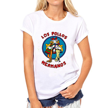 BONA Summer Style T-shirt The breaking bad Prited t shirts womans Los Pollo Hermanos Funny Hipster women tops Free shipping