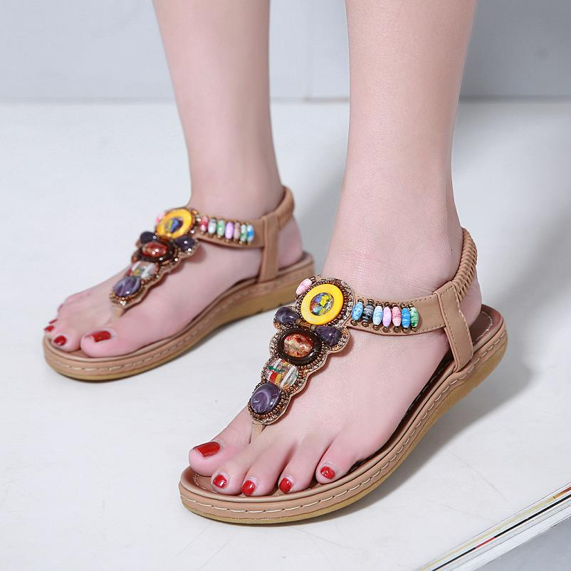 2e9b74b47a9e 2019 Summer Sandals Women T-strap Flip Flops Thong Sandals Designer Elastic  Band Ladies Gladiator Sandal Shoes Zapatos Mujer ...