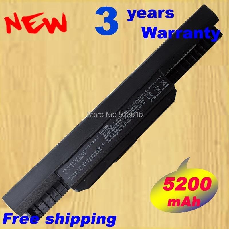 Nouvelle batterie pack a32-k53 pour asus a53e a53s a43s a54c k53sv x53u x54h portable