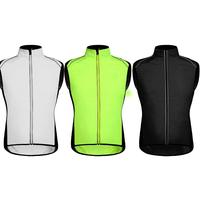 Fashion Cycling Jersey Sleeveless Breathable Windproof Sport Cycling Vest Reflective Bicycle Running Male Wind