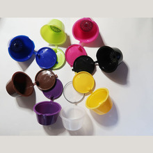 1pc 11 color Plastic Refillable Coffee Capsule Cup 200 Times Reusable Compatible For Nescafe Dolce Gusto Filter Baskets Capsules