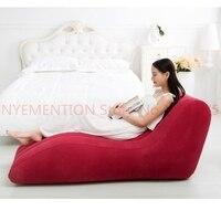 155cmx89cmx65cm inflatable air bean bag chair, flocking PVC good quality S shape love chair,sexy beanbag sofa recliner 5pcs