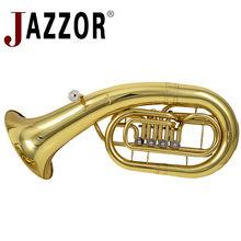 JAZZOR JBEP-1110 professional Euphonium B flat  gold lacquer four flat keysBrass wind instrument with mouthpiece