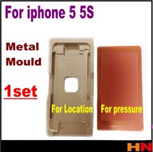 1set 2pcs for iphone 5 5s Vacuum Metal Mold Mould LCD Screen Laminating and Positioning Alignment
