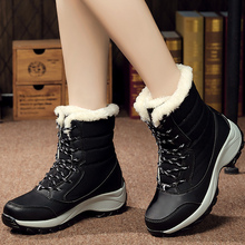 Snow boots women ankle boots Nylon big size 40-42 winter boot platform woman shoes fashion wedges 2019 hot lace-up warm plush taoffen winter genuine real leather boots women plush ankle snow boots feminina platforms fashion lace up women shoe size 33 43