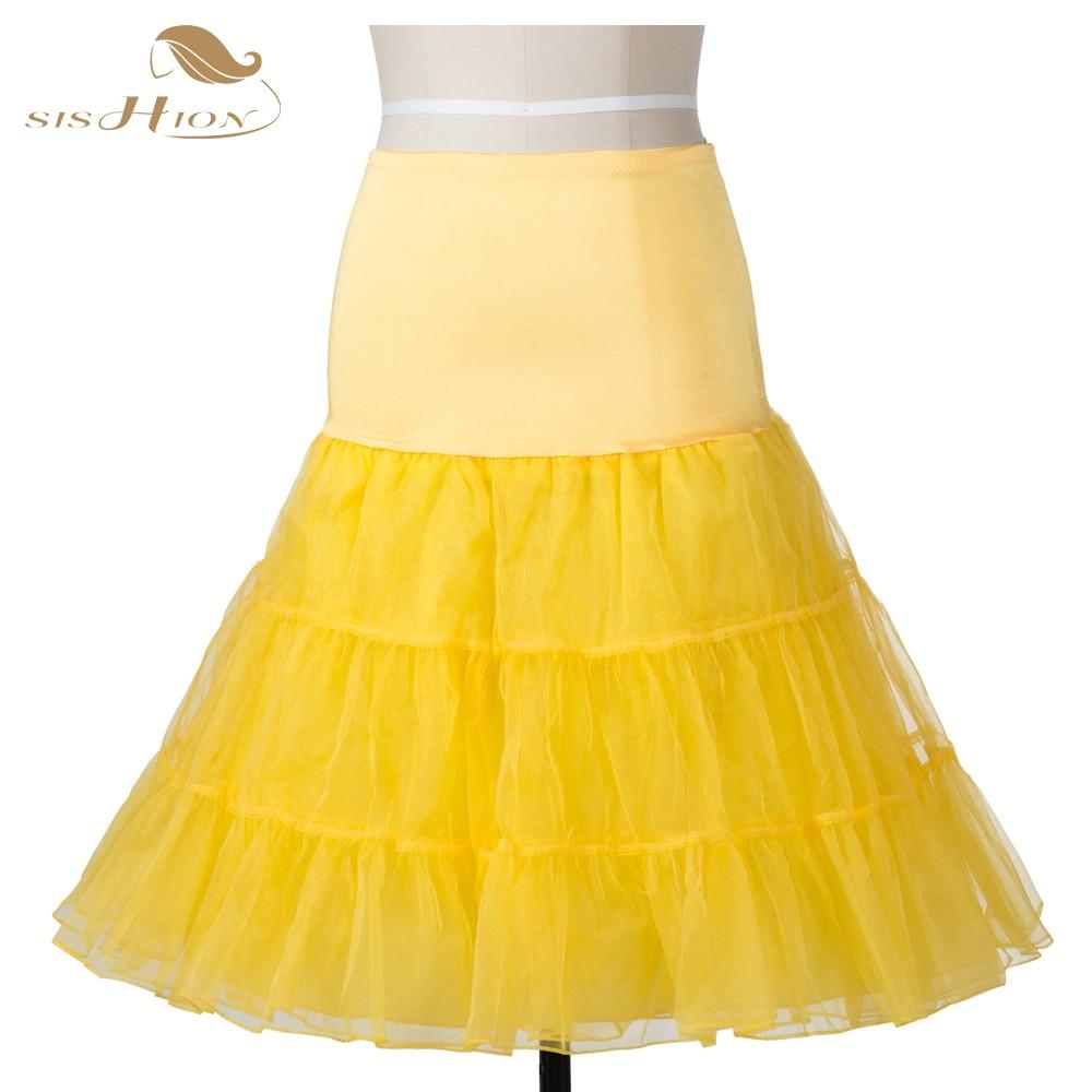 Plus Size Tutu Skirt Underskirt Ball Gown Tulle Sexy Petticoat Fluffy High Waist Black White Rockabilly 50s Swing Vintage Skirt