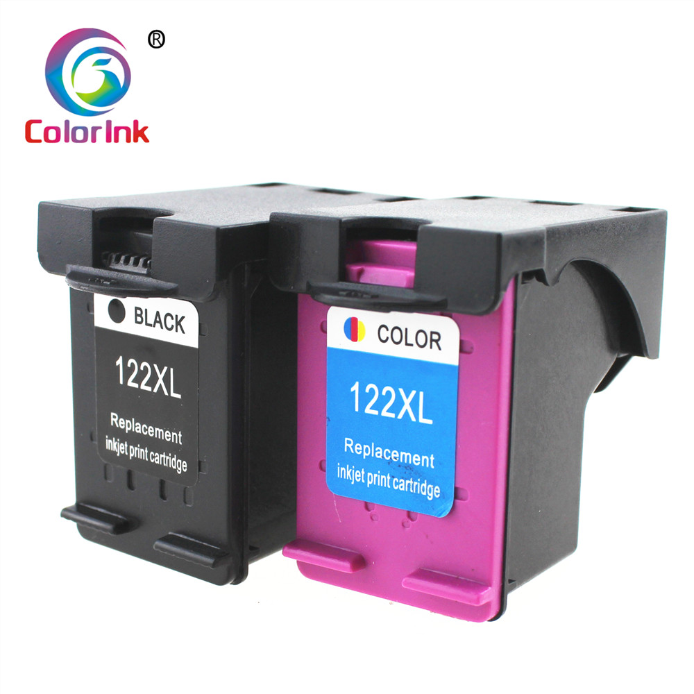 ColoInk 2Pack 122XL Ink Cartridge Replacement for <font><b>HP</b></font> <font><b>122</b></font> forHP Deskjet 1000 1050 2000 2050s 3000 3050A 3052A 3054 1010 printer image