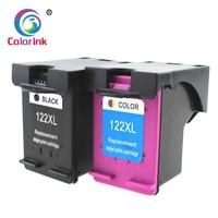 ColoInk 2Pack 122XL Substituição Do Cartucho De Tinta para HP 122 forHP Deskjet 1000 1050 2000 2050s 3000 3050A 3052A 3054 1010 de impressora