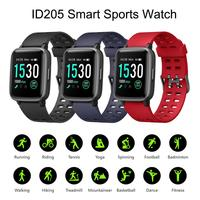 Bluetooth ID205 HD Touch Screen Smart Watch Wearable Tracker Heart Rate Sports Waterproof 1.3 Inch For Android IOS Smart Watch