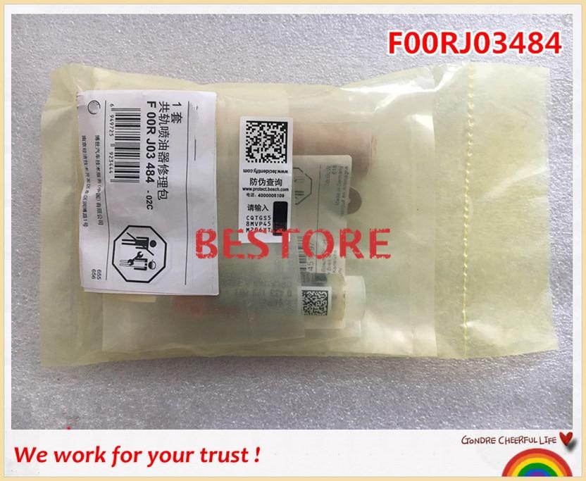 Original GENUINE Common rail  injector repair kits F00RJ03484 for 0445120123, 4937065 0445110356 original common rail injector 0445110356 for yuchai fc700 1112100 a38