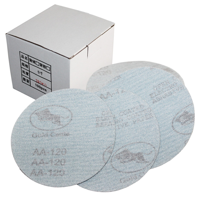 "Competent 50pcs 5"" 125mm White Sander Sand Paper Sanding Disc Sanding Sheets"