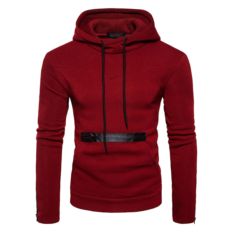 HOT 2018 Autumn and winter Fashion men hooded big fleece jacket big zipper pocket hip hop men hooded jacket coat