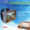 4.3 pulgadas TFT LCD MONITOR HD de Dos en Uno 1080 P 2MP AHD y de vigilancia analógicos cctv probador de la cámara con usb led de regalos envío gratis