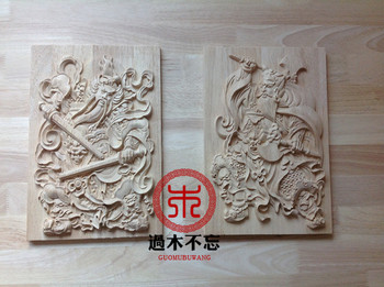 Don't forget the Chinese Dongyang wood carving wooden applique Decal Decals square fireplace window door keeper