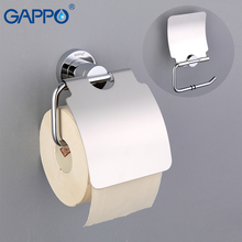 GAPPO حاملات الورق غطاء لفة ورق التواليت عقد العتيقة النحاس لفة علاّقة أوراق مع غطاء الحديثة اكسسوارات الحمام الجدار