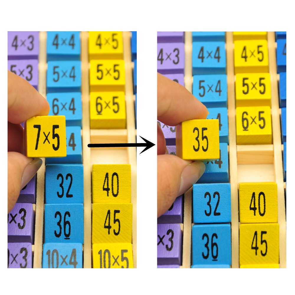 Kids educational toys 99 multiplication table math toy 1010 kids educational toys 99 multiplication table math toy 1010 figure blocks wooden toys for children montessori in math toys from toys hobbies on gamestrikefo Images