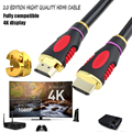 1M 1.5M  2M 3M 5M High speed Gold Plated Plug Male-Male HDMI Cable 2.0 Version 1080p 3D for HDTV XBOX PS3 PS4 2 k * 4 HD CABLE