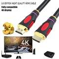 1 M 1.5 M 2 M 3 M 5 M de Alta velocidad Conector Chapado En Oro Cable HDMI Macho-macho 2.0 versión 1080 p 3d para hdtv xbox ps3 ps4 2 k * 4 hd cable