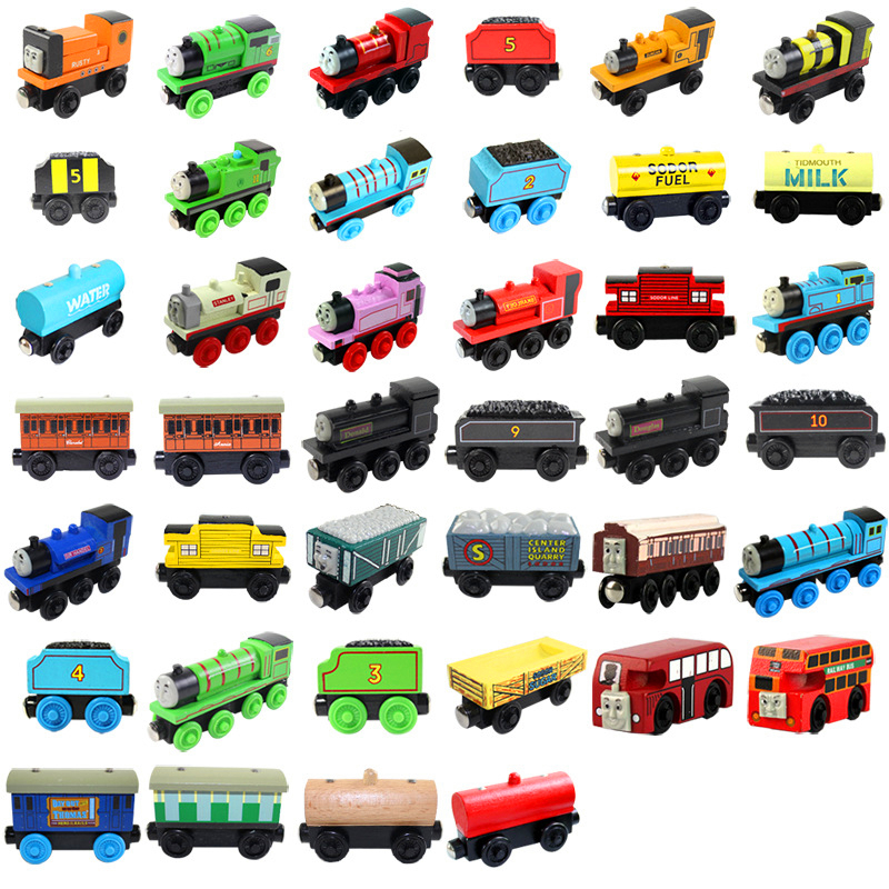 Wooden Railway Toys Magnetic Thomas Train Thomas And Friends Model Locomotives For Baby Children Kids
