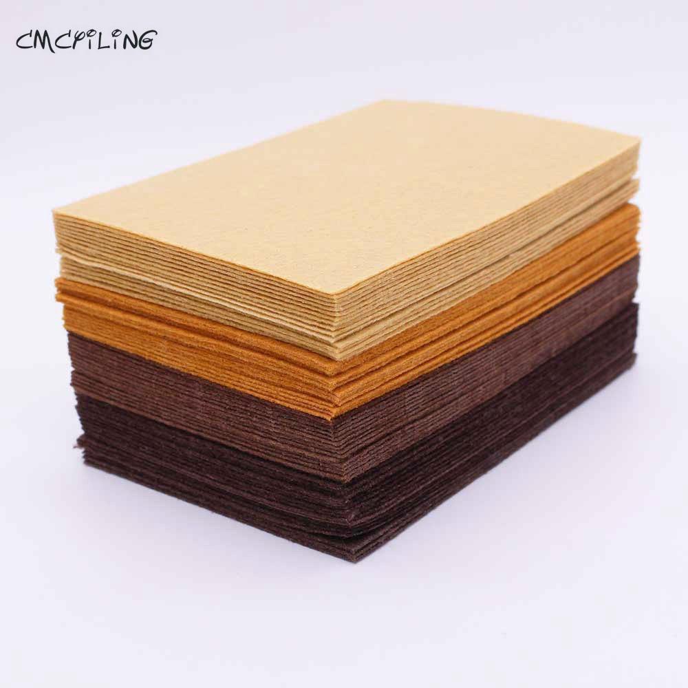 Brown Chocolate Felt Craft 1mm Felt Polyester Fabrics Sheet For Diy Decoration Sewing Fieltro Feltro Textiles Entretela A6