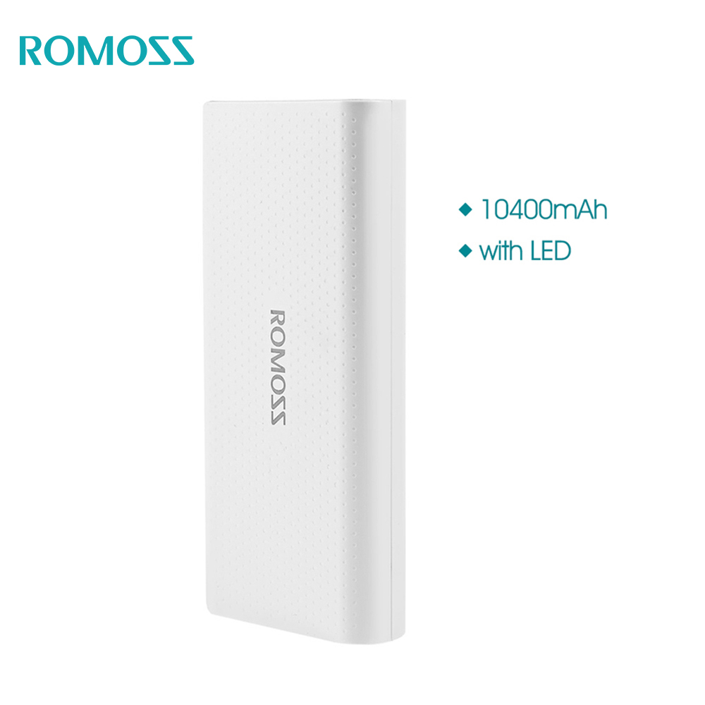Romoss Sense LED mAh Power Bank Charger bank Output V A Dual