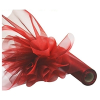 Practical Boutique 26M X 29CM Organza Roll Sash Fabric Chair Cover Bows Table Runner Sashes Swags