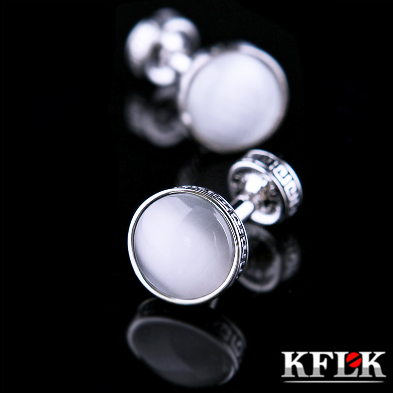 n kflk 2018 de luxe chemise bouton de manchette pour hommes marque manchette bouton blanc pierre. Black Bedroom Furniture Sets. Home Design Ideas