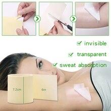 1 rollo/6 m verano Invisible absorbentes axila axilas sudor Pad desodorantes naturales pegatinas ultrafina respirable antitranspirante