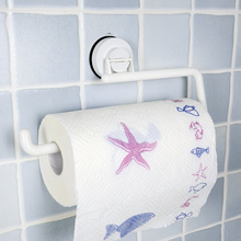 Dehub kitchen towel rack paper suction cup tissue roll holder seamless
