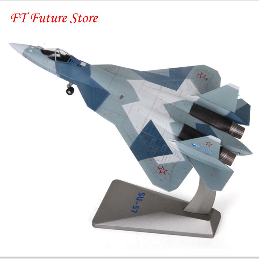 Collectible Fans Airplane Model Toys Russian Heavy Fighter Su57 Static Military Ornaments Aircraft Su-57 Air Force Model KidsCollectible Fans Airplane Model Toys Russian Heavy Fighter Su57 Static Military Ornaments Aircraft Su-57 Air Force Model Kids