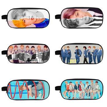 New Fashion BTS Bangtan Boys Pencil Case Student School Supplies Women Men Pen Pouch Stationery Storage bag Kids Purse Wallet