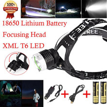 1Set Bicycle Light 5000 Lm CREE XM-L XML LED Headlamp Headlight flashlight head light lamp+1X Car Charger +2*18650 Battery F22