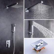 Vagsure Bathroom Shower Faucet Set Bathtub Faucets Mixer Tap Bath Shower System Taps Waterfall Shower Head Mixer Torneira Tap цена в Москве и Питере