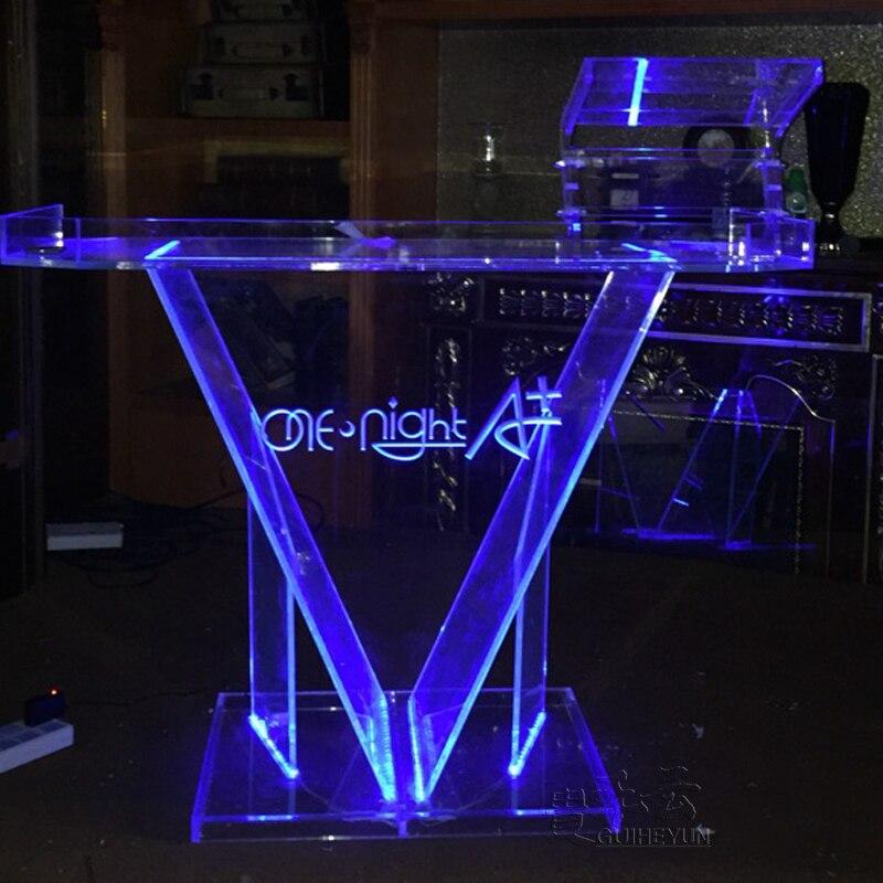 Elegant Acrylic DJ Counter Stand L100* W55*H110cm