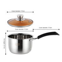 Korean single handle soup stew pot super thick polished non magnetic bottom nonstick pan ramen pot home food cooking milk pot h3