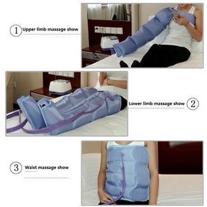 Image 2 - Air Compression Massager Handheld Controller Blood Circulation Pump Wrap Set for Double Arm Leg Cuff Waist Relax Massage