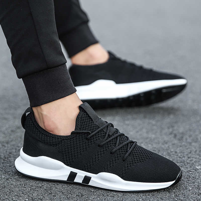 BomKinta Hot Light Running Shoes White Sneakers Men Gym Sport Shoes Male Breathable chaussure sport homme 2019 zapatillas hombre