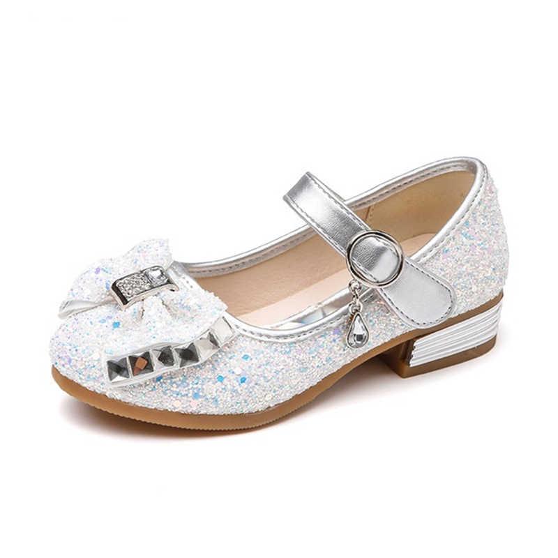 ... Kids Sequined Bowknot Flats Shoes Girls Princess Rhinestone Single Shoes  Girls Wedding Sweet Moccasins Loafers AA60250 ... 43ece9300edd