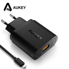[Qualcomm Certified] AUKEY USB Wall Charger With Quick Charge 3.0 Smart Fast Charger For iPhone 7 Xiaomi Meizu Samsung and More