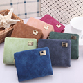 Three Fold Purse Fashion Retro Women Wallets PU Leather Vintage Short Women Coin Purse Lady Card Wallet monederos mujer 7 color