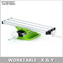 Miniature Précision Multifonction Fraisage Machine Banc Forage Étau Mobilier Table De Travail X Y-Réglage de l'axe Coordonner Table.